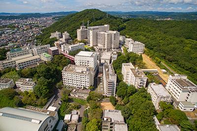 岡山キャンパス全景